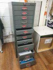 More details for grey metal filing cabinet 12 drawers metal handles non-locking