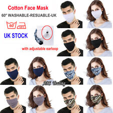 BRIT UK FACE MASK Breathable Cotton Washable Reusable Adjustable Pollution