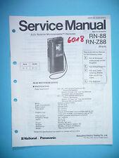 MANUAL DE Manual de servicio para Panasonic rn-88/rn-z88, original