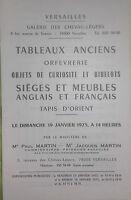 1975 Versailles Catálogo De Venta Pizarras Antiguos Goldsmith Alfombra D Orient
