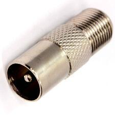 F type Socket to Coax RF IEC Aerial Plug Male Adapter twist on Connector x 5