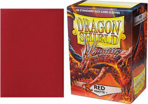 Dragon Shield Sleeves: Matte - Red (100)