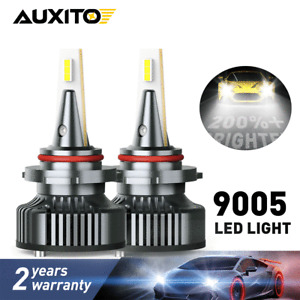 2 Years Warranty Newest Beam Adjustable Fanless 9000 Lumens Super Bright All-in-One Design HB3 Fog Light Lamp 6000K Xenon White AUXITO 9005-LED Headlight Bulbs High Beam Conversion Kit