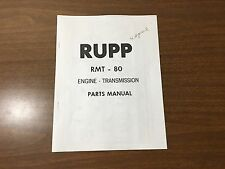 Vintage Rupp Motorcycle RMT - 80 Engine Transmission Parts Manual 32401