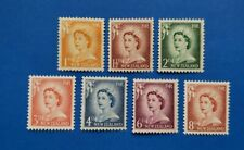 New Zealand Stamps, Scott 306-312 Complete Set Mint And Hinged
