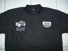 NEU JEEP CJ-7 Xtrem Fan Poloshirt schwarz polo shirt blouse camisa chemise