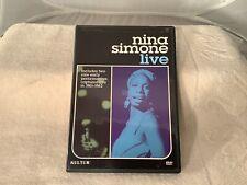 Nina Simone Live DVD 2004 1961-1962 Live Performances Rare OOP Kultur