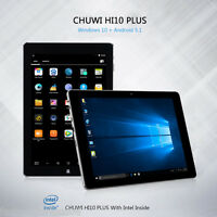 "CHUWI Hi10 Plus 10.8"" Tablet PC Windows10+Andrioid 5.1 Quad Core 64/4GB OTG IT"