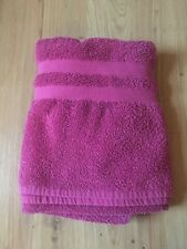 Hot Pink Terry Cloth Beach Towel Used