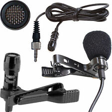 UNIDIRECTIONAL/CARDIOID MINI CLIP ON LAPEL MICROPHONE FOR BODY PACK TRANSMITTERS