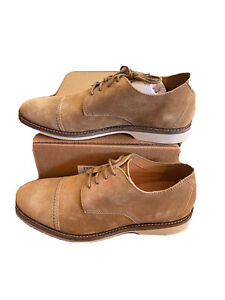 Clarks Mens Atticus Cap Oxford Casual/Dress Dark Sand Size 9 Suede Lace Up