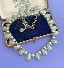 Francois Coro Modernist Vintage Silver Tone Collar Necklace
