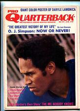 Pro Quarterback # 11 Nov 1971  O J Simpson  Len Dawson  Dick Gordon   MBX16