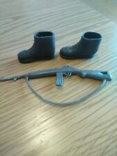 VINTAGE ACTION MAN  BROWN BOOTS  & RIFLE
