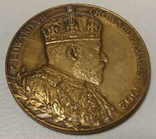 Vintage -56mm -Edward VII / Alexandra - 9-Aug-1902  - Bronze Medal - Very Good