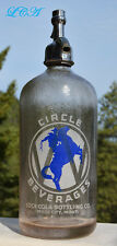 Old CIRCLE W Coca Cola COKE Seltzer bottle MILES CITY MONTANA Original Complete