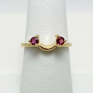New! Genuine Ruby 14k Yellow Gold Engagement Ring Wrap Band (7832)