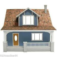 New Beachside Bungalow Dollhouse Kit, with chimney, easy assembly!! great hobby!