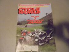 NOVEMBER 1984 CYCLE WORLD MAGAZINE,HONDA CBR400F,NS250R,KAWASAKI KR250,SUZUGSX-R