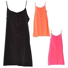 Unbranded Women's No Pattern Strappy, Spaghetti Strap Short/Mini Dresses