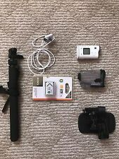 White Sony HDR-AS200V Full HD Action Cam WITH ACCESSORIES
