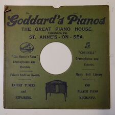 "10"" 78rpm gramophone record sleeve GODDARDS PIANOS st annes on sea"