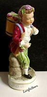 Vintage Capodimonte Italian Porcelain Boy with Basket and flowers Mini Figurine