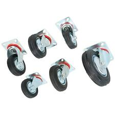 """More details for 3"""" 4"""" 5"""" 6"""" swivel rubber castors caster wheels trolley furniture movers"""