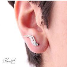 Sterling silver 925 CZ climber Wings Earrings Hook Earring High Quality E36