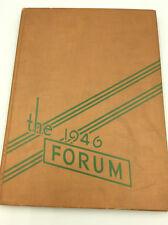 1946 SENN HIGH SCHOOL YEARBOOK - 1st ed - Chicago, IL - The Forum