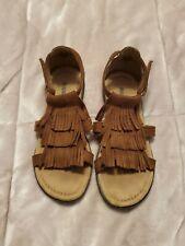 Girls size 13 Minnetonka Brown Sandals with fringe