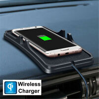 Car Qi Wireless Charger Stand Charger Mobile Phone Charging Dock Phone Holder▁