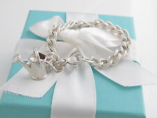 Auth Tiffany & Co Silver Watering Can Bracelet