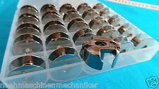 Spulenkapsel und 25 Metall Spulen für Pfaff Nähmaschine Umlaufgreifer +Spulenbox