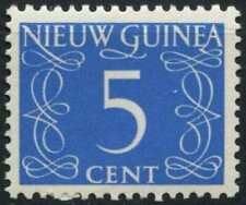 Netherlands New Guinea 1950-2 SG#6, 5c Blue Definitive MH #E13750