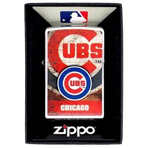 Chicago Cubs Major League Baseball Brand New Zippo Lighter w/ Box! 125