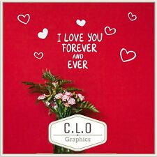 Romantic Quote Wall Sticker Vinyl Art Transfer Decor Cute Love You Forever Decal