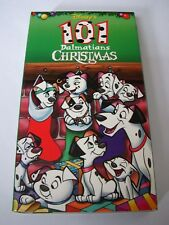 DISNEY 101 Dalmatians CHRISTMAS Animated VHS 1998 EXCELLENT Tested RARE OOP