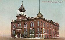 Masonic Temple in Fargo ND Postcard 1912