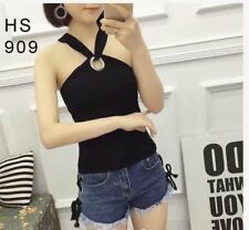 KNITTED SLEEVELESS TOP #909 (TG)  - BLACK