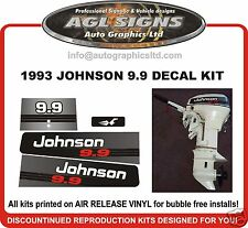 1993 JOHNSON 9.9 hp  DECAL SET OUTBOARD STICKERS