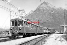 PHOTO  SWITZERLAND TRAIN 1985 BERNINA LAGALP ABE4/4 TRAM NO 34