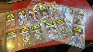 JASON CRUMP---SET OF 20---SPEEDWAY----COLLECTOR'S CARDS--RARE