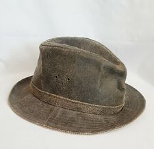 VINTAGE AUSTRALIAN OUTBACK COLLECTION OILED LEATHER OUTBACK Fedora HAT - Large