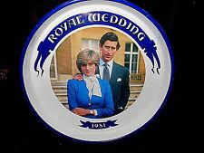 "VINTAGE ""THE ROYAL WEDDING 1981"" TRAY~LADY DI & PRINCE CHARLES"