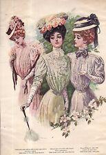 1907 Delineator Print - Satin Taffeta; Hyacinth shirt-waist with yoke