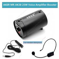 AKER AK38 25W Ceinture PA Voix Amplificateur Avec FM Sans fil Microphone