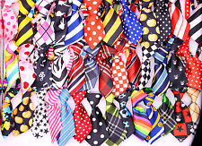 Adjustable 100pcs Mix 60 Patterns Polyester Small Pet Dog Collar Bow Tie Necktie