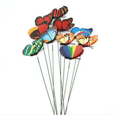7CM Butterfly on Stick Home Garden DIY Art Ornament Vase Lawn Decorations 10pcs