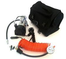 12V Electric 5m Long Hose Coil Analogue Air Compressor Inflater Tyre Pump & Bag